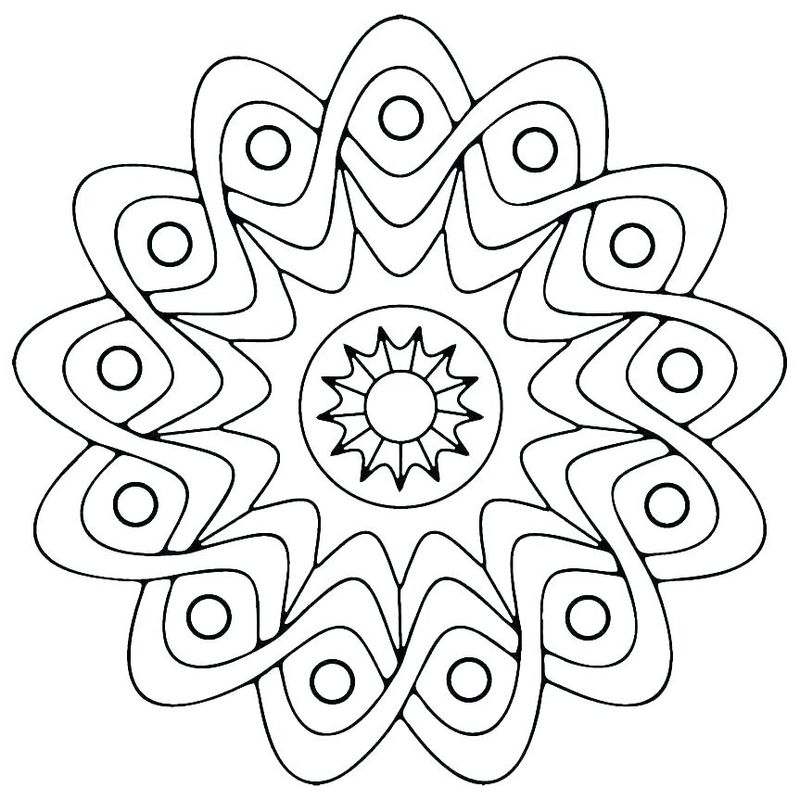 Coloring Pages Designs Geometric free