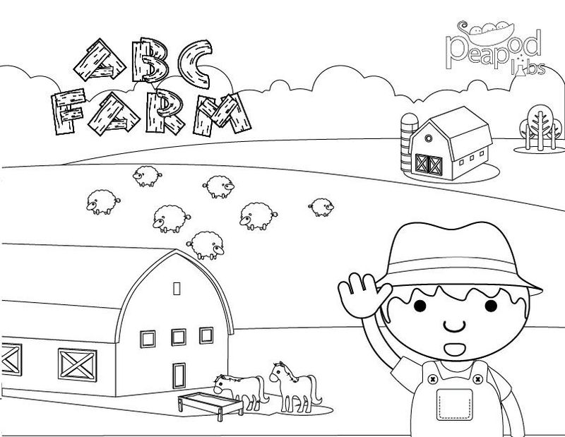 Coloring Pages Farm Animals Toddlers
