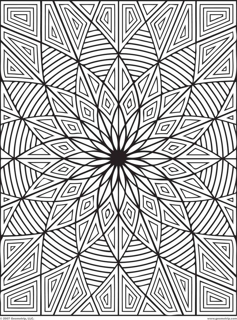 Coloring Pages For Adults Geometric Free pdf