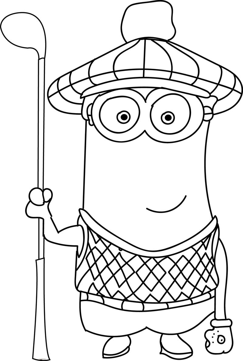 Coloring Pages For Printing Minions Free