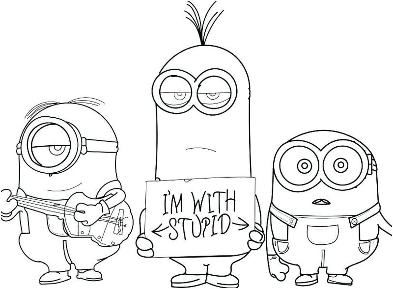 Coloring Pages From Minions Scarlet In Pretty Dress