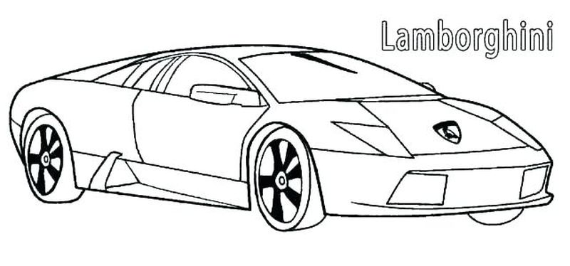 Coloring Pages Of A Lamborghini Free