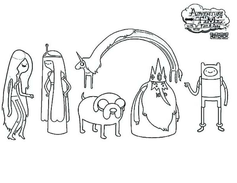 Coloring Pages Of Adventure Time