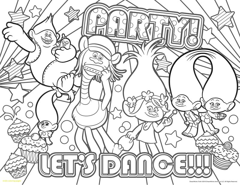 Coloring Pages Of Cute Trolls