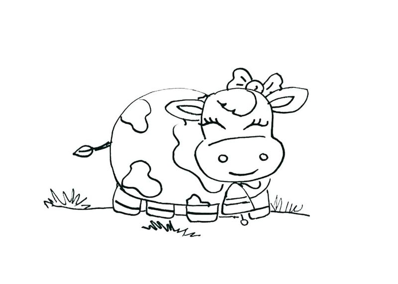 Coloring Pages Of Farm Animals For Preschoolers