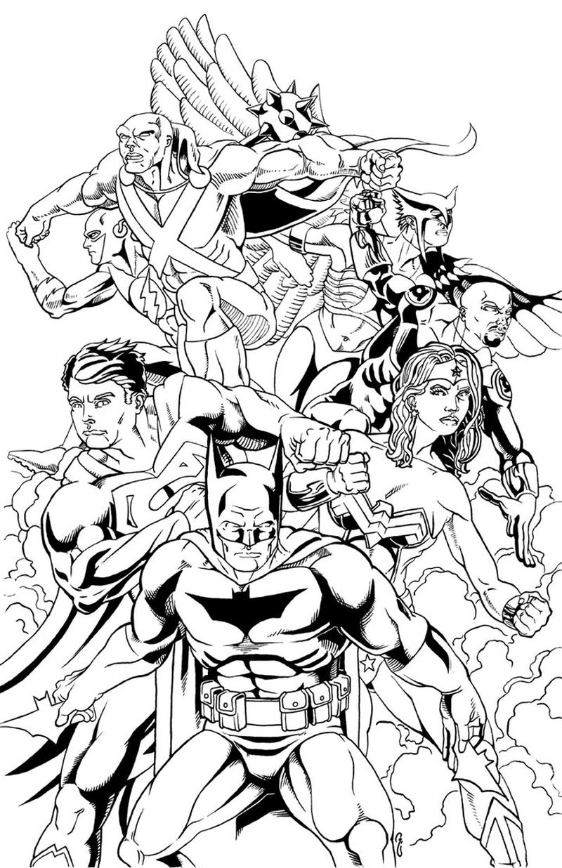 Coloring Pages Of Justice League