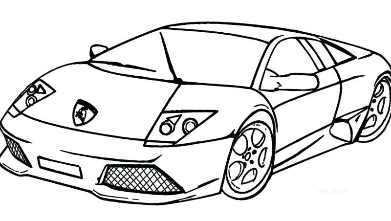 Coloring Pages Of Lamborghini Free