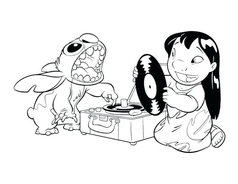 Coloring Pages Of Lilo And Stitch