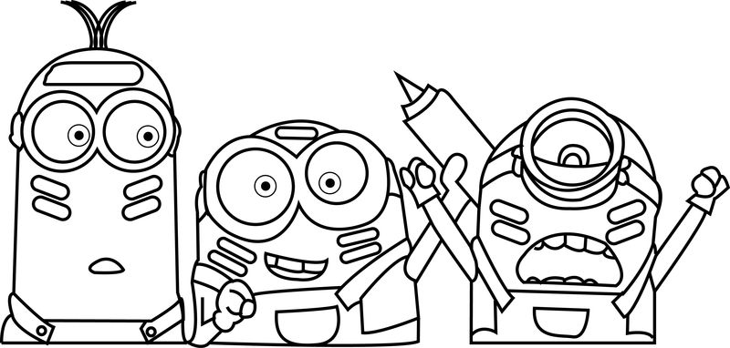 Coloring Pages Of Minions Eyes