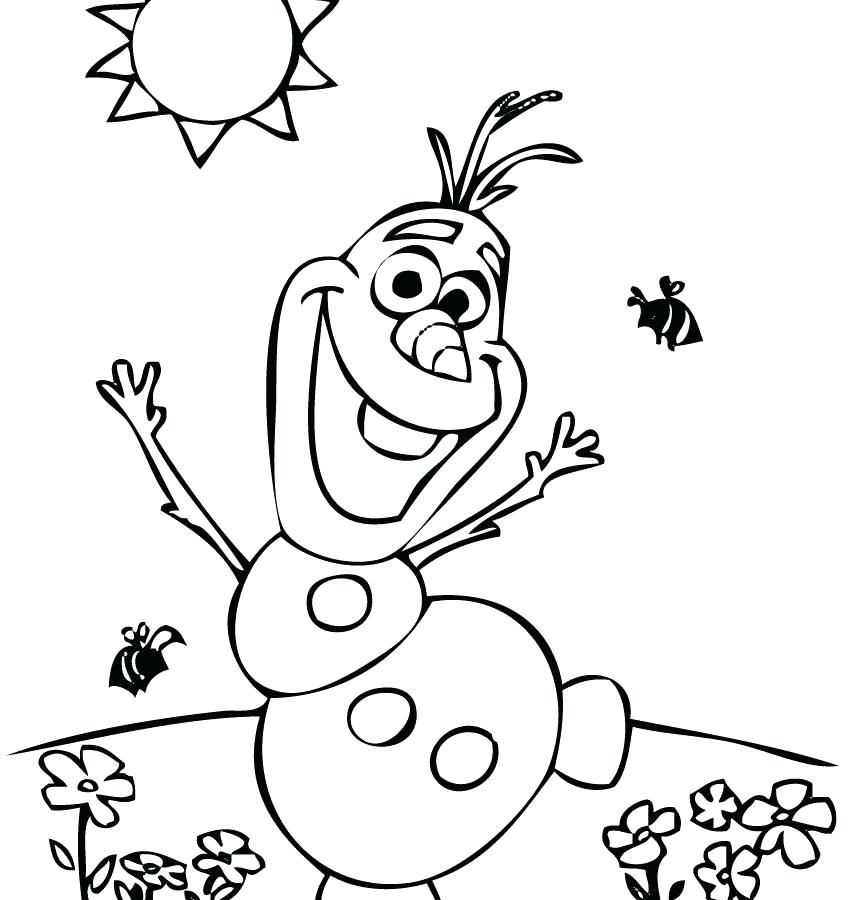 Coloring Pages Of Olaf From Frozen