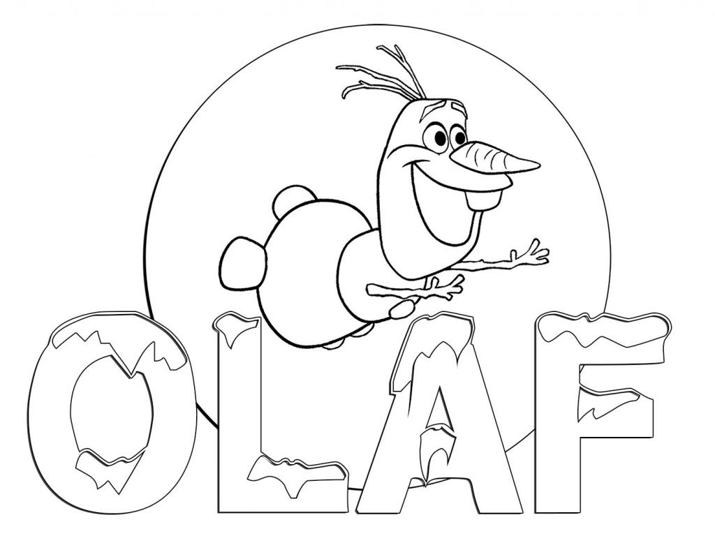 Coloring Pages Of Olaf