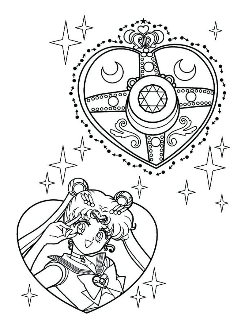 Coloring Pages Of Sailor Moon free
