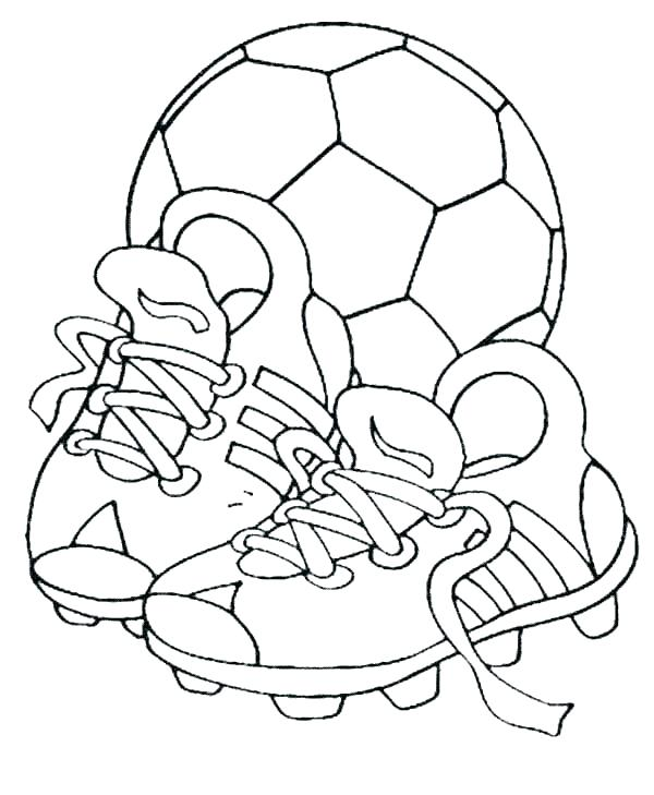 Coloring Pages Of Soccer Players