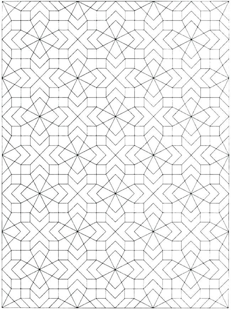 Coloring Pages Patterns Geometric free