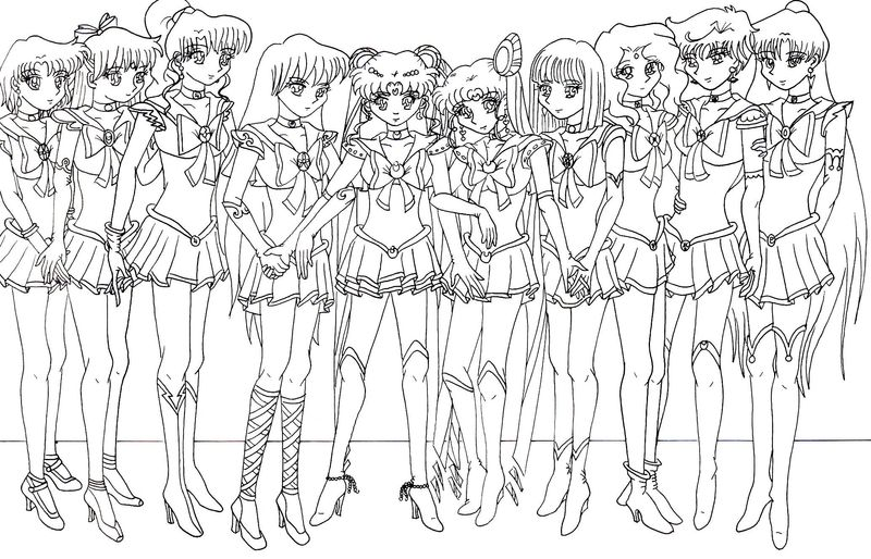 Coloring Pages Sailor Moon Doll Palace free