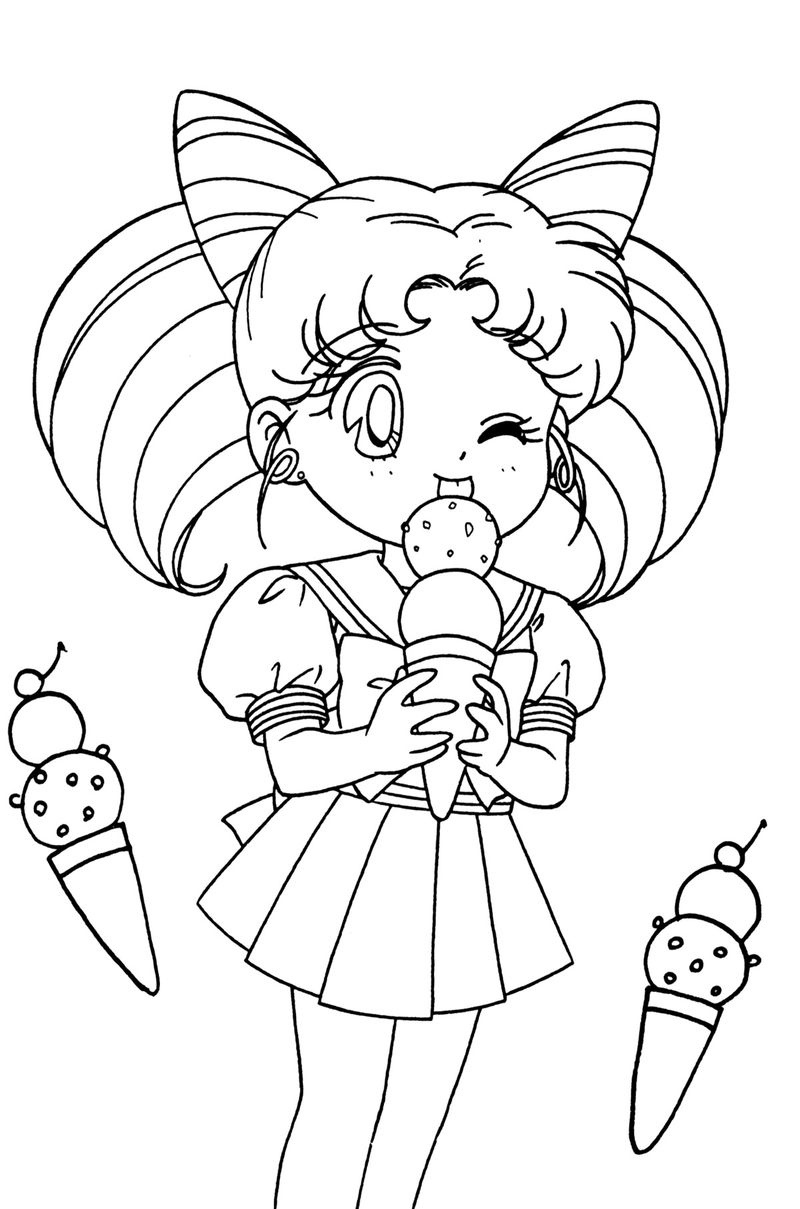 Coloring Pages Sailor Moon Printable free