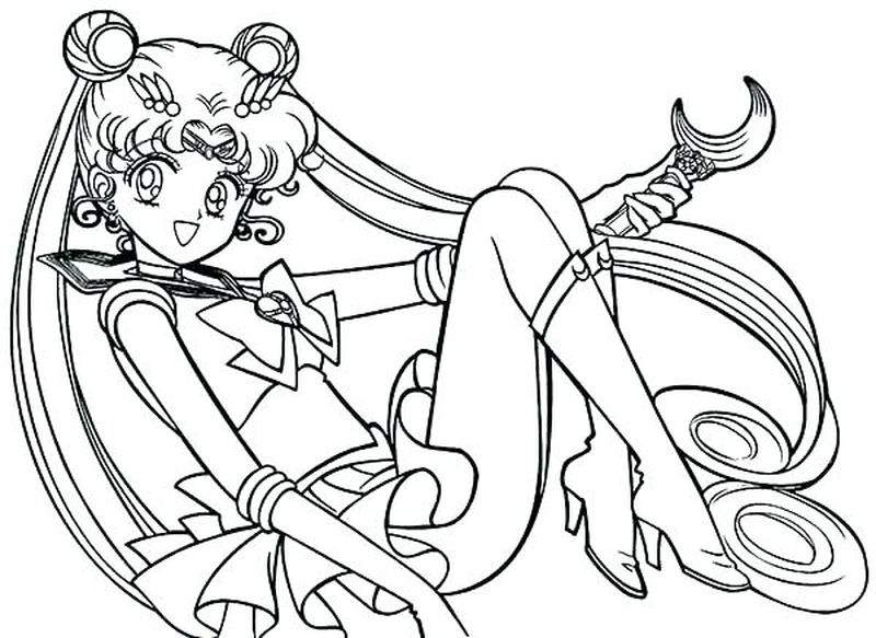 Coloring Pages Sailor Moon Warriors free