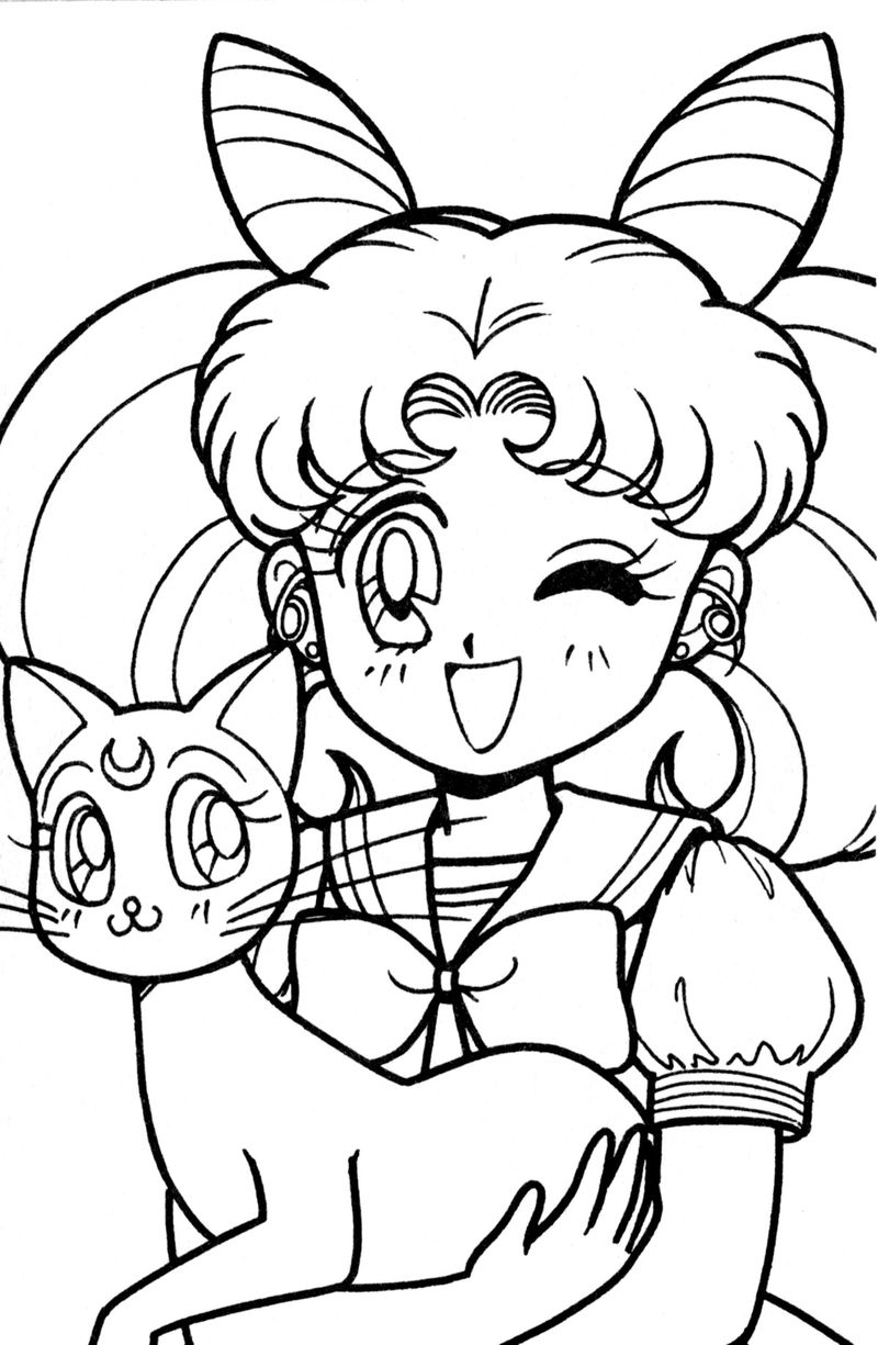 Coloring Pages Sailor Moon free