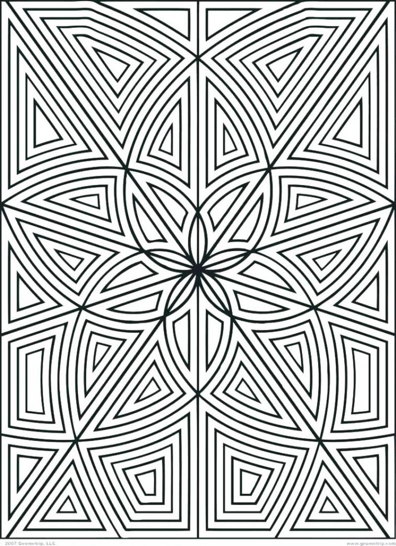 Coloring Pages Shapes Geometric free