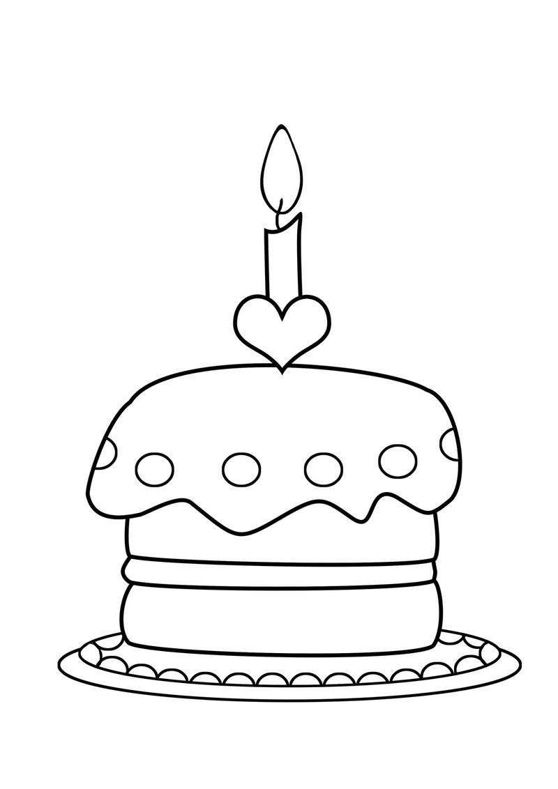Coloring Pages Showing A Piece Of Double Layer Frosted Cake