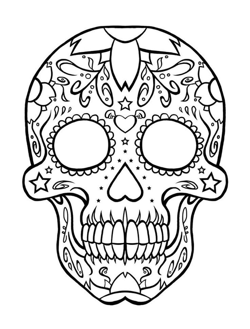 Coloring Skull Pages Online