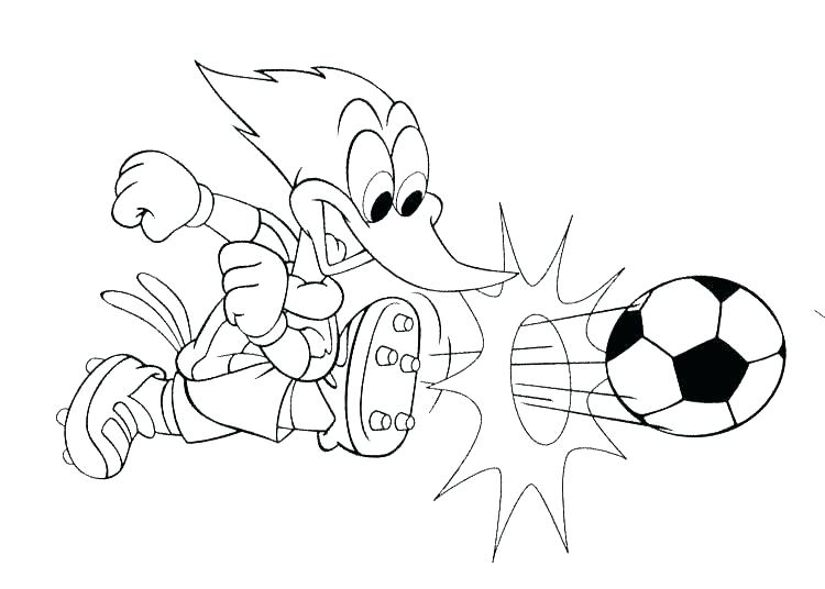 Coloring Soccer Pages