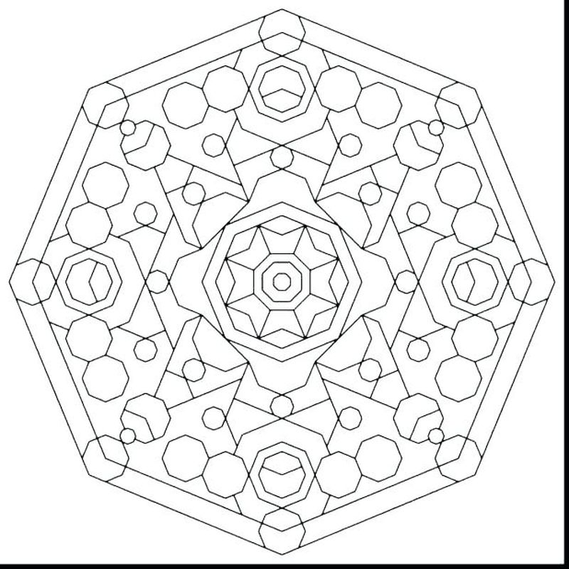 Complicated Geometric Coloring Pages free