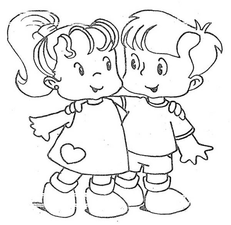 Cool Best Friend Coloring Pages free
