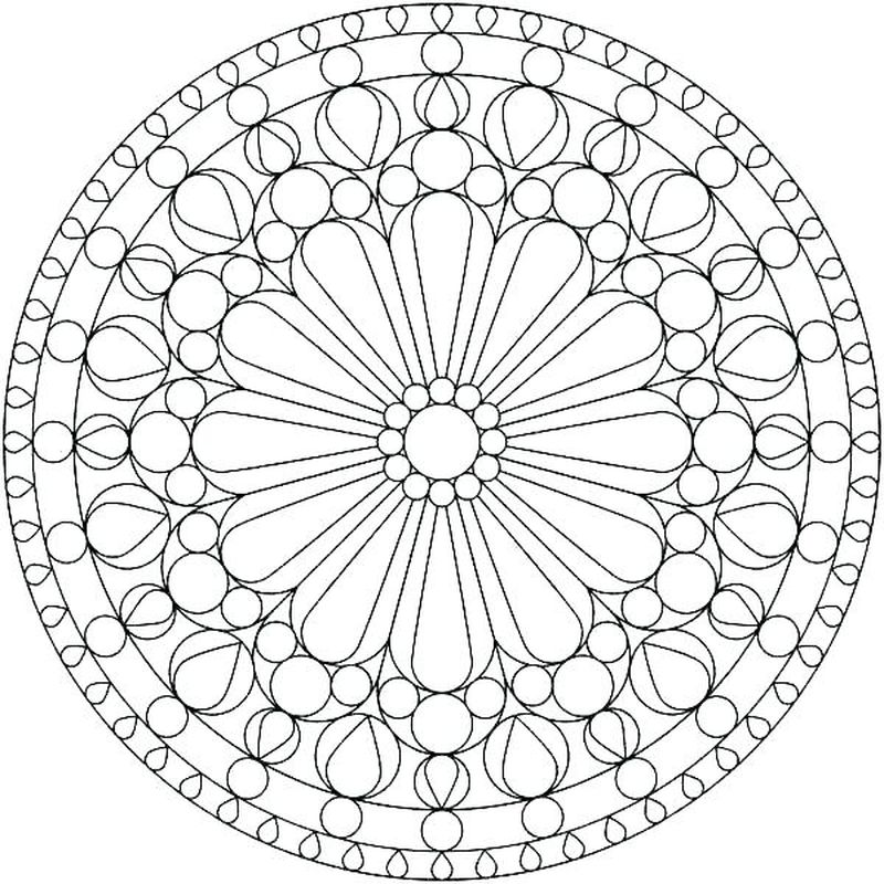 Cool Geometric Coloring Pages free