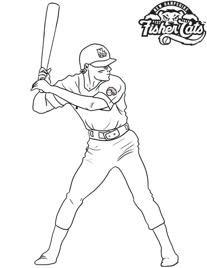 Cubs Baseball Coloring Pages