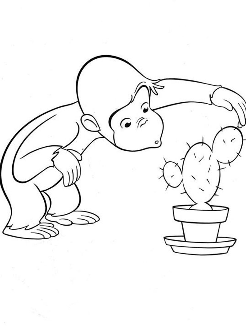 Curious George Christmas Coloring Pages