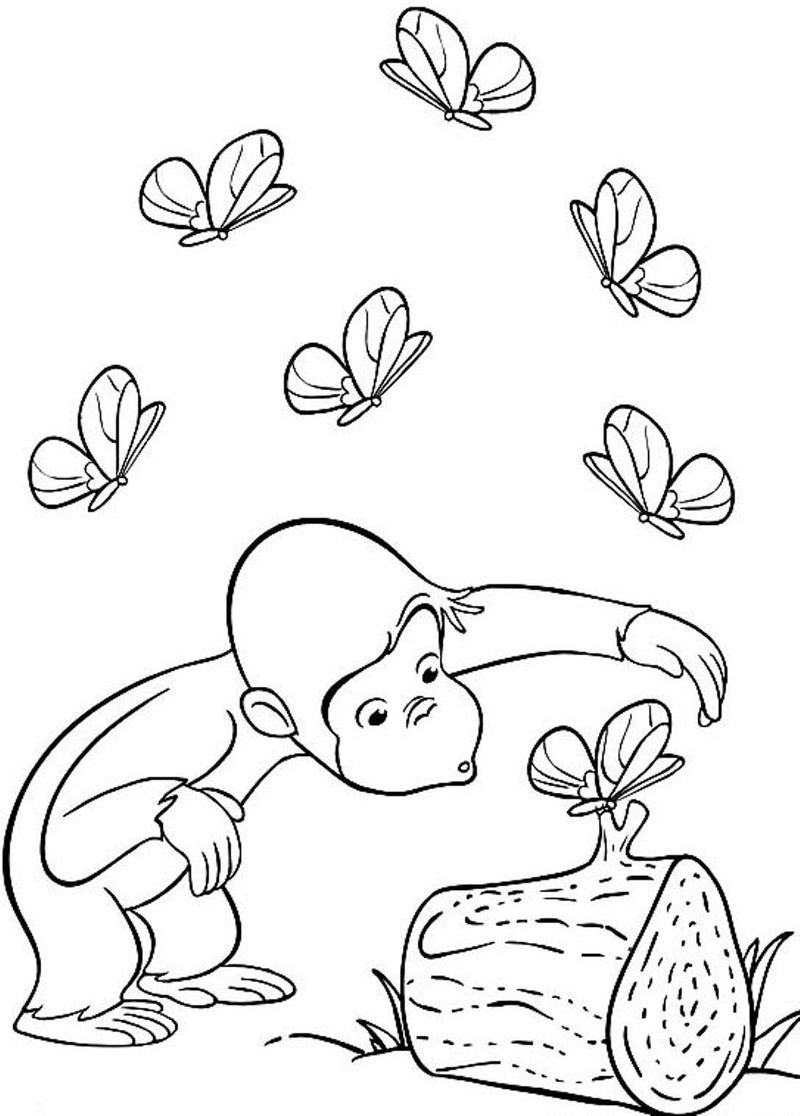 Curious George Coloring Pages Pdf