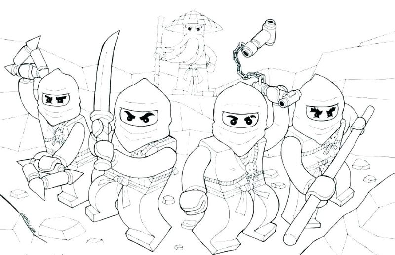 Cute Ninja Coloring Pages