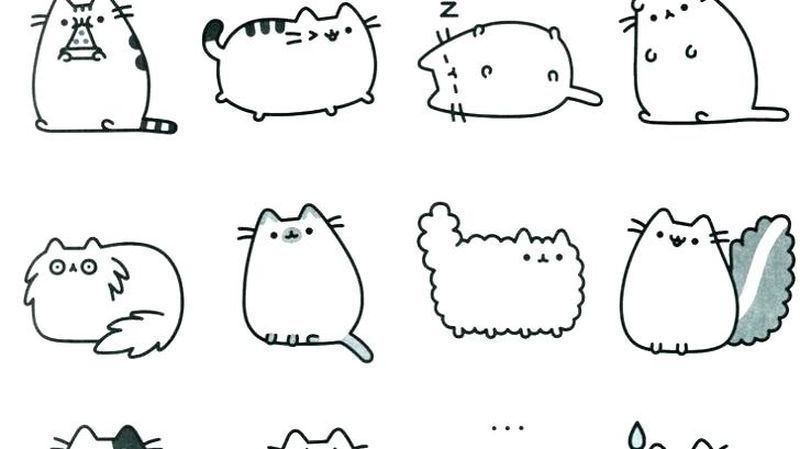 Cute Pusheen Coloring Pages free ok printable