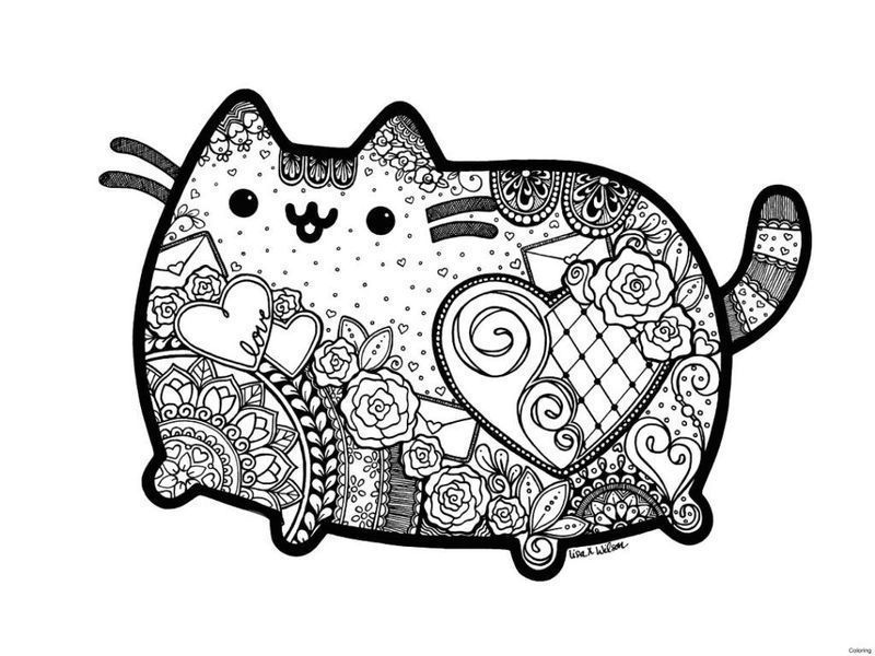 Cute Pusheen Coloring Pages image free printable