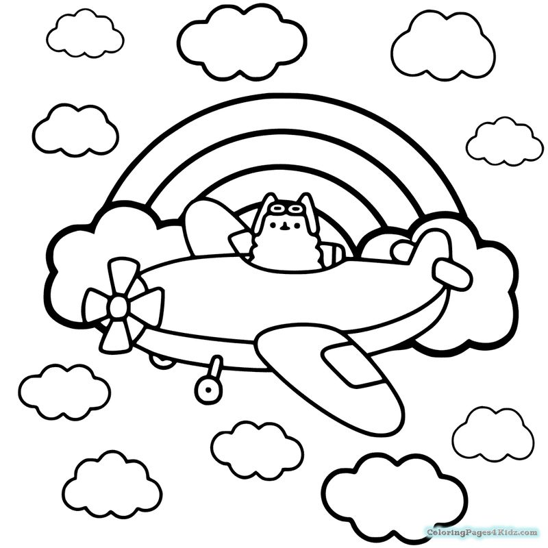 Cute Pusheen Coloring Pages image okprintable