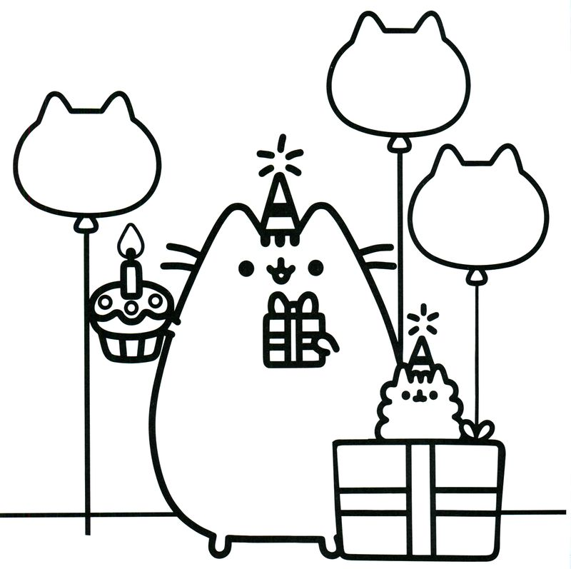 Cute Pusheen Coloring Pages image printable