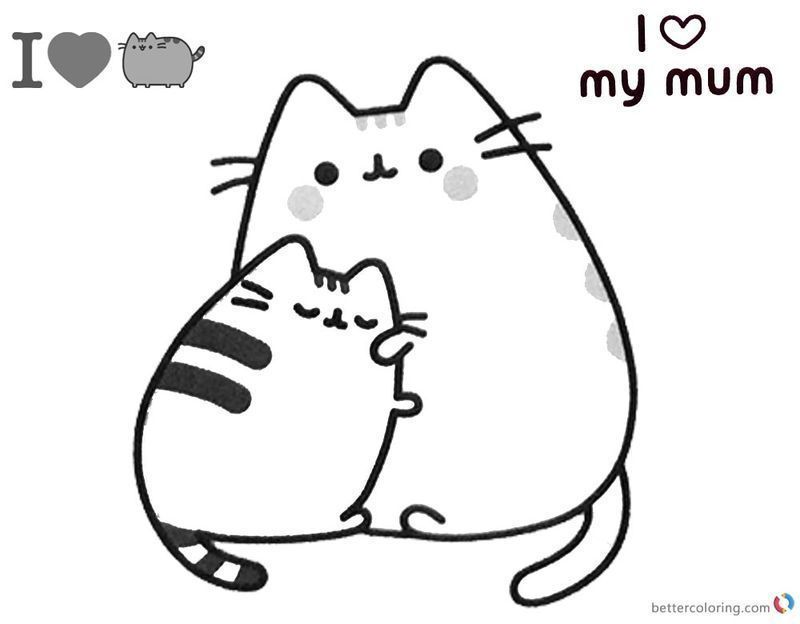 Cute Pusheen Coloring Pages kids ok printable