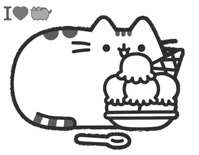 Cute Pusheen Coloring Pages ok image printable