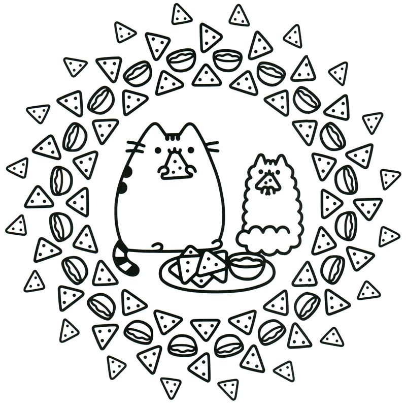 Cute Pusheen Coloring Pages ok printable