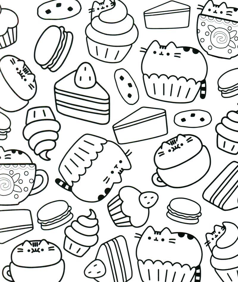 Cute Pusheen Coloring Pages online for kids printable