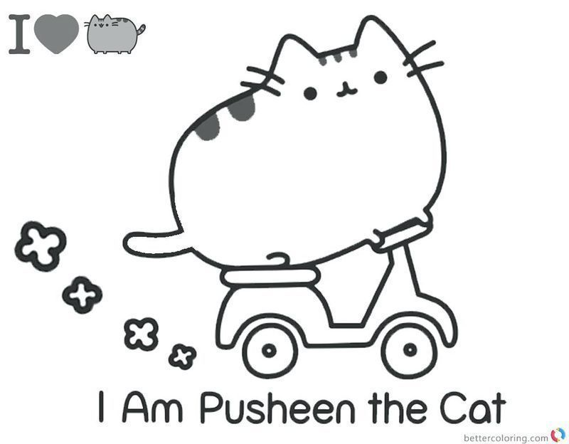 Cute Pusheen Coloring Pages online printable