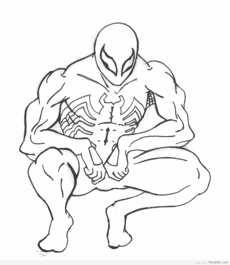 Deadpool And Spiderman Coloring Pages