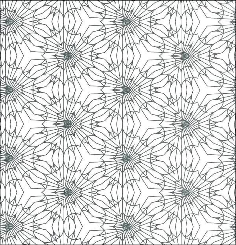 Detailed Geometric Coloring Pages Kids free