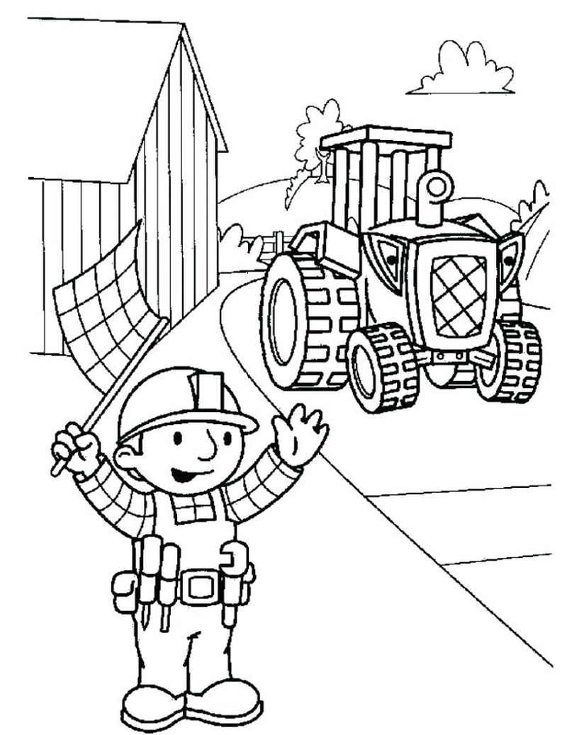Diggers Coloring Pages free