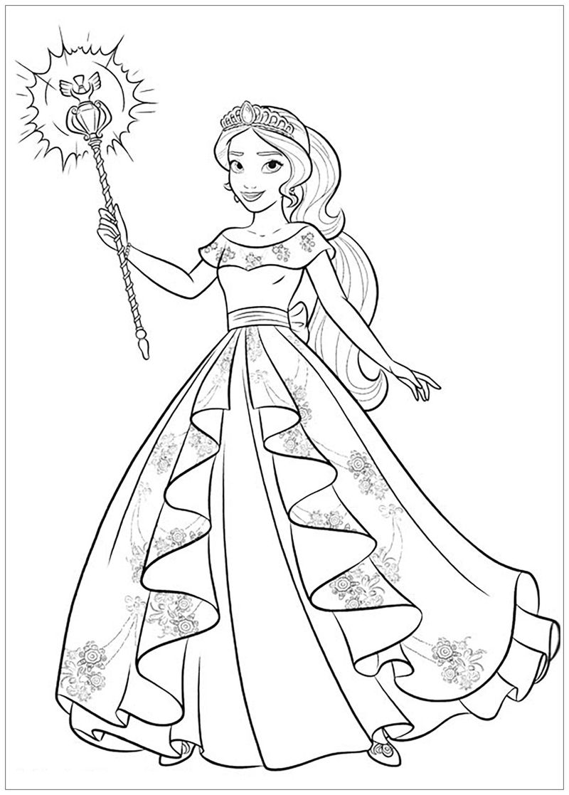 Disney Elena Of Avalor Coloring Pages free