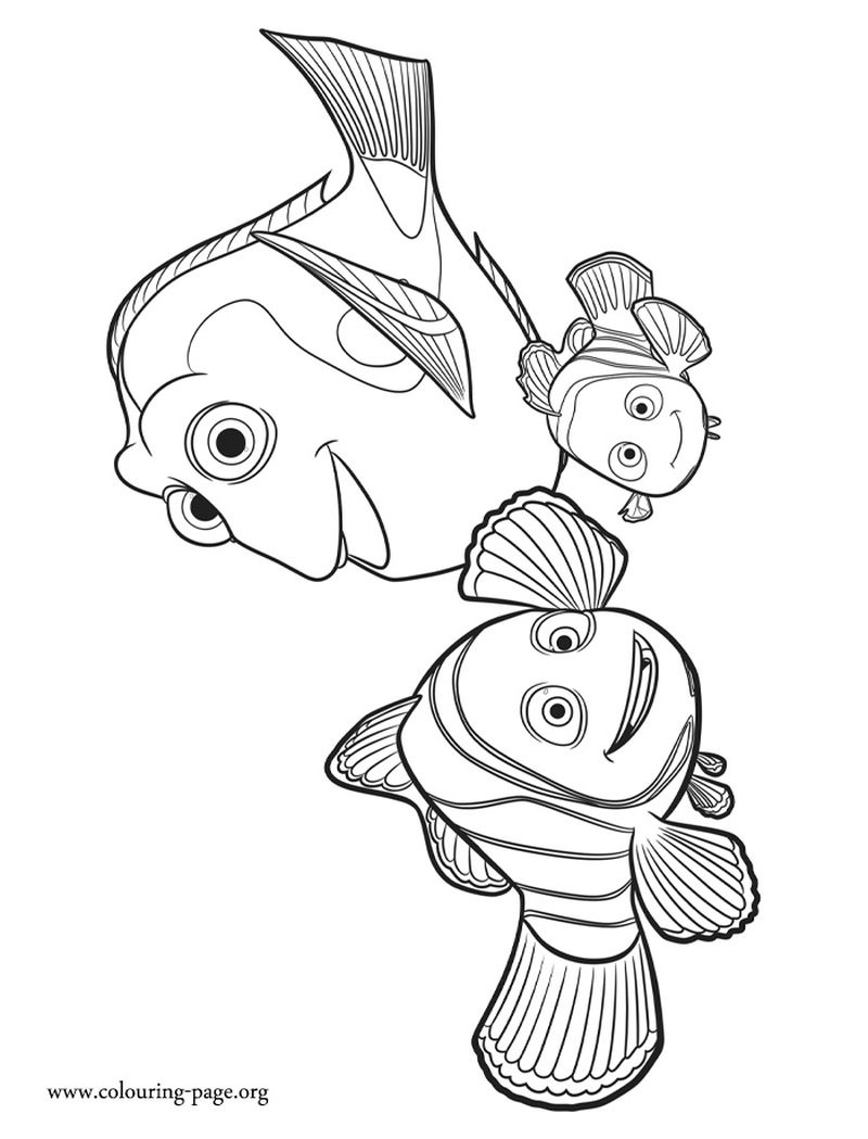 Disney Finding Dory Coloring Pages free