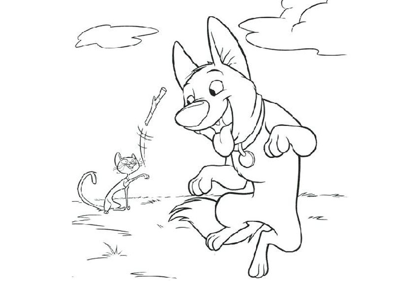 Dog Coloring Book Pages Bolt
