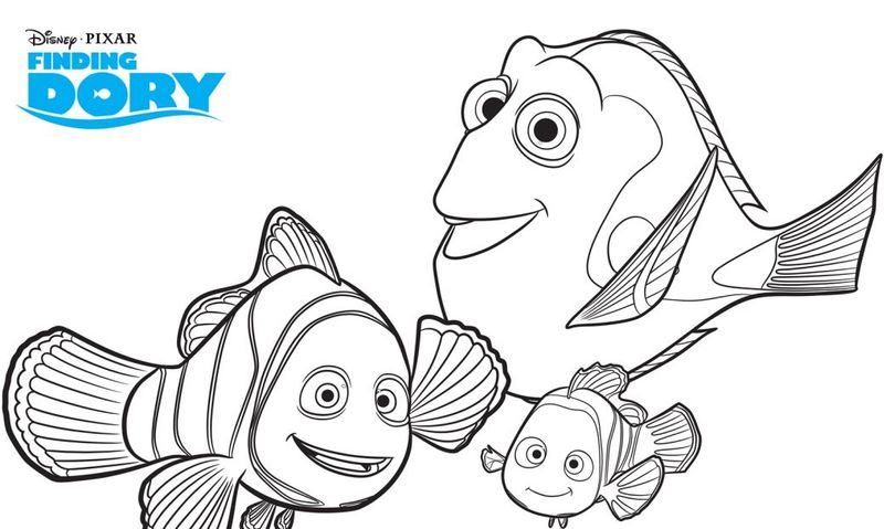 Dory Finding Nemo Coloring Pages free