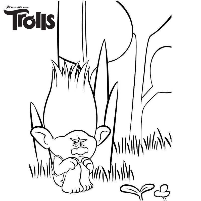 Dreamworks Trolls Coloring Pages Free